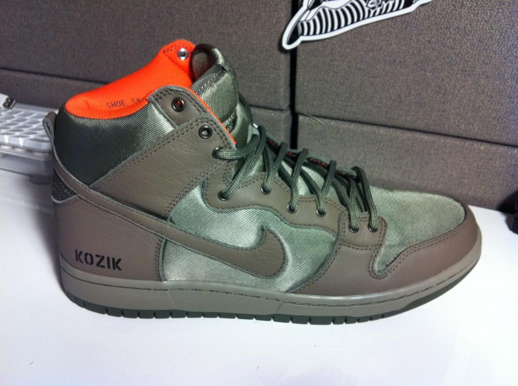 Kozik Nike SB Dunk High Sneakers