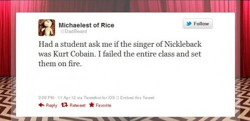 Nickelback tweet