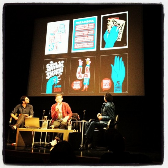 Parra and Victor Moscoso in conversation at SFMOMA