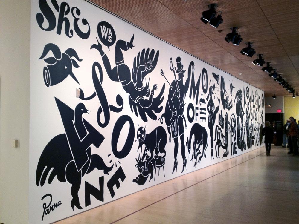 Parra mural at SFMOMA