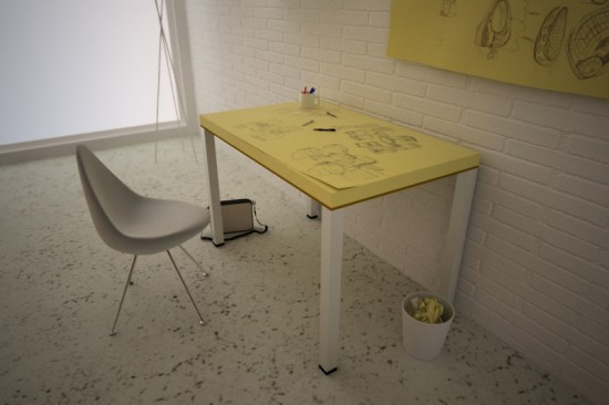 Post-it Note Table by Soup Studio