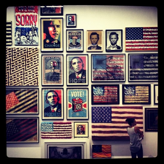 USA-centric art collection of @toykio on display in Berlin, Germany