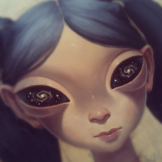 @anabagayan draws and paints the most otherworldly & hypnotic eyes around.