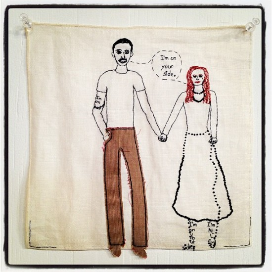 Sweet embroidery by Iviva Olenick spotted at ART-MRKT by @jeremyriad for @medulao.