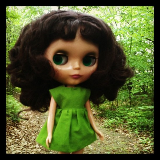 Suitable photo of Blythe to follow @anabagayan. Everything's gone green by @yearofthelabbit.