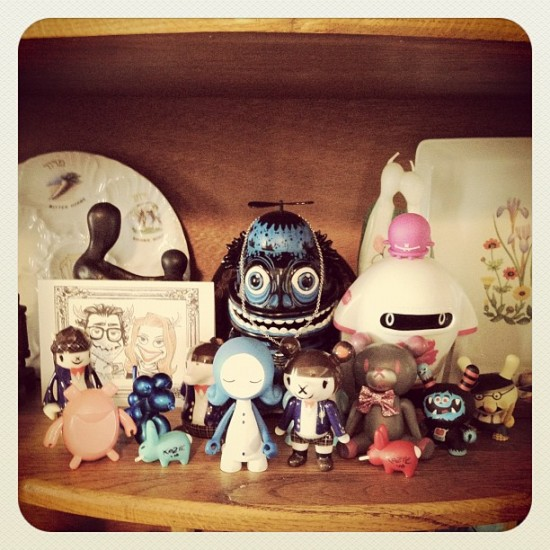 My Mom's growing designer toys collection! Can you detect a theme? Photo by @jeremyriad.