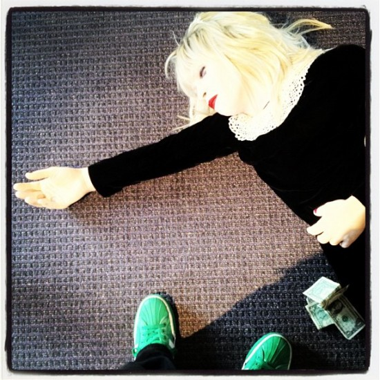 I finally meet Courtney Love, and she's passed out on the floor. Classic @jeremyriad.