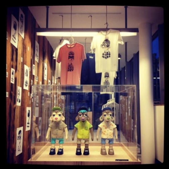 @jonknoxstudio's designer toys are big in Japan! Specifically at R. Newbold.