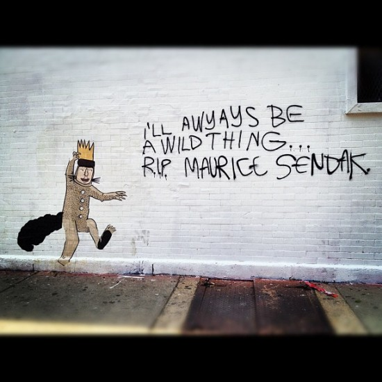 Nice memorial for Maurice Sendak spotted in Chicago by @jcrivera.