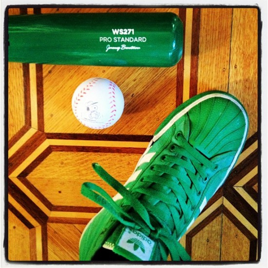 Gorgeous @warstickbatco half-dip, Snoopy squeezeball and my Adidas. Photo by @jeremyriad.