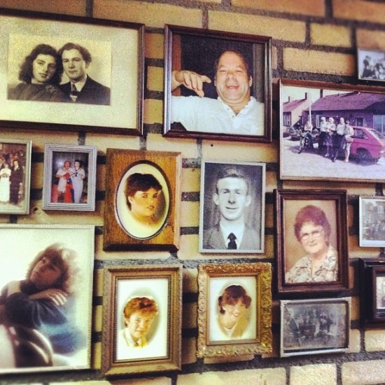 @loulouandtummie in the Netherlands frame their fleamarket found photos. Nice!