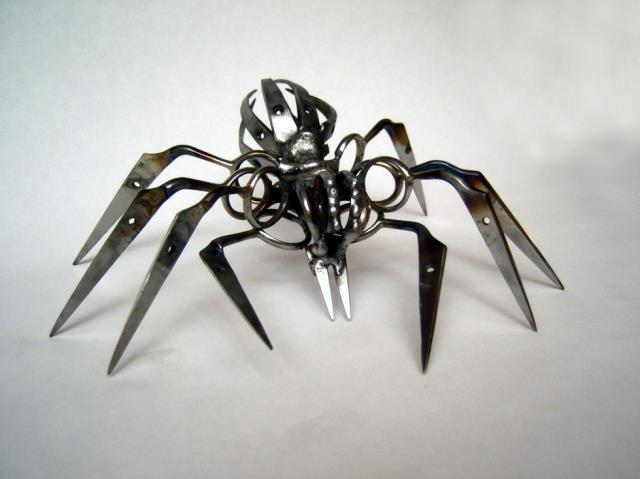 Barber Scissors Spider by Christopher Locke