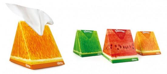 Fruity Tissue Box Packaging Design