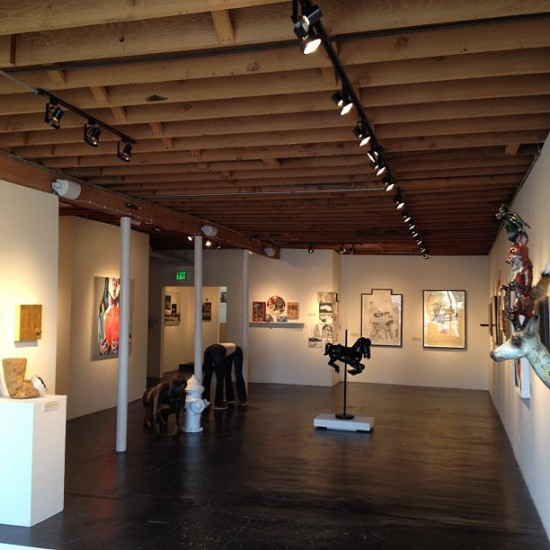 Setup for New Blood @thinkspace_art in Culver City