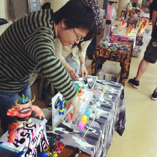 @chimagroup setting up at Design Fest in Japan, photo by @jmrampage