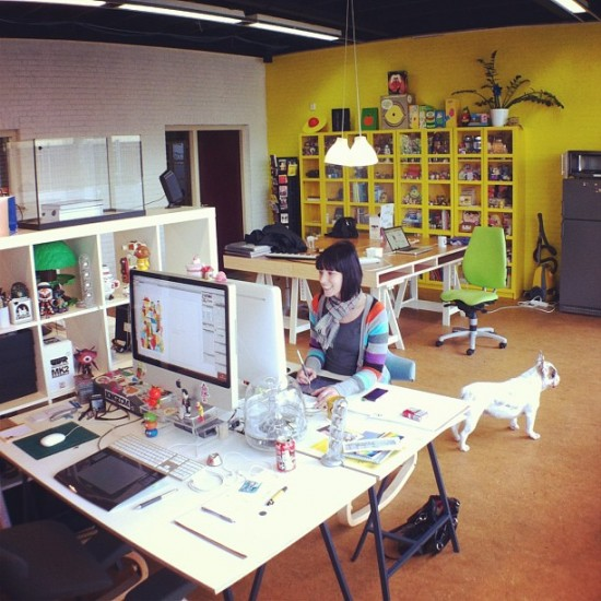 My lovely friends @louloutummie are settling into their new Netherlands studio!
