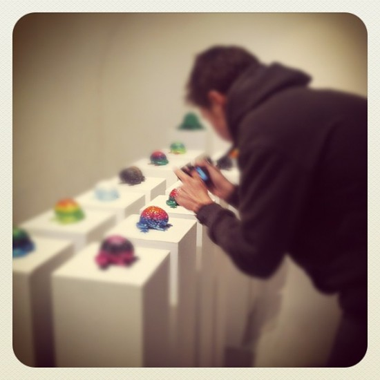 @lapolab setting up OTIVM jumping brains at ARTOYZ in Paris.