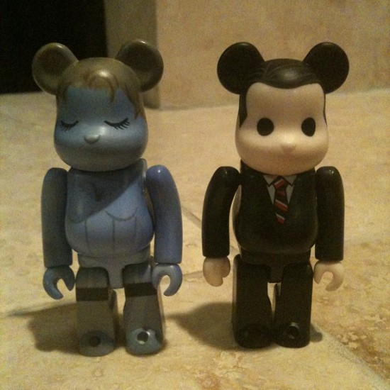 Twin Peaks Be@rbricks produced by Medicom, collection of @theblotsays