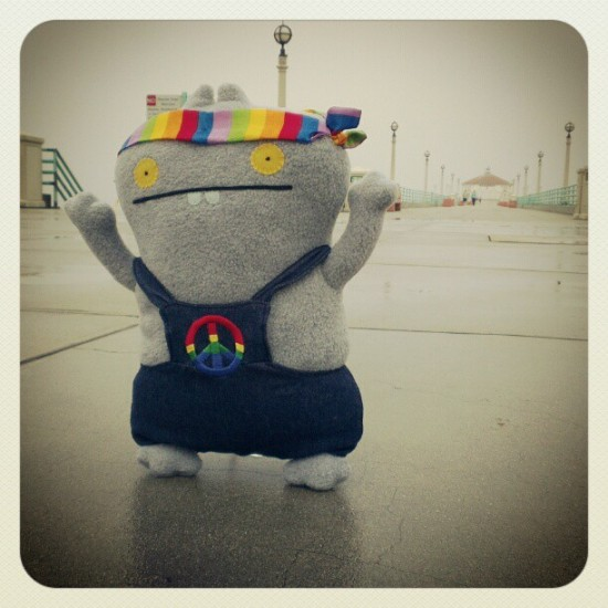 """Far out man"" @Uglydoll, probably headed to San Francisco. Photo by David Horvath."