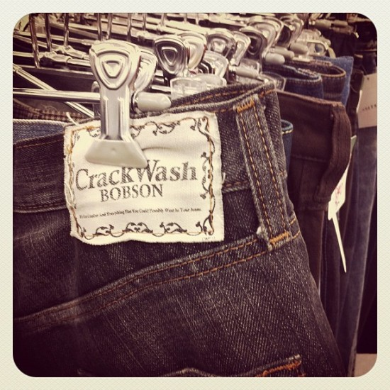 Crack Wash jeans located in a Japanese 2nd hand store by @jmrampage.