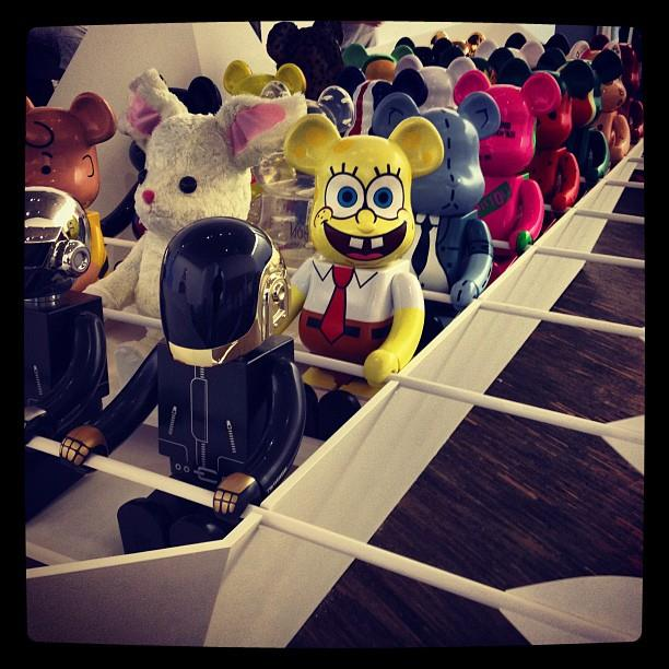 Be@rbricks on a boat, photo by @toykio in Germany.