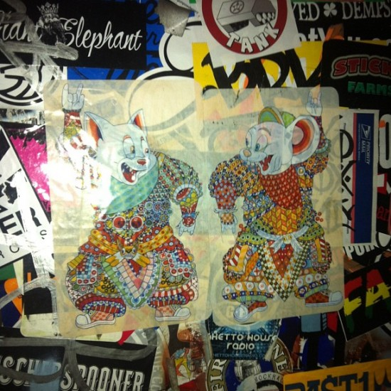 @FerrisPlock stickers at The Phoenix Hotel in San Francisco. Photo by @kellytunstall.
