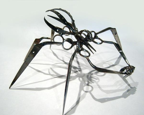Christopher Locke Turns Confiscated Scissors Into Spider