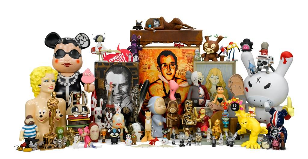 Selim Varol's art and toy collection