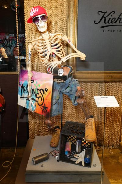 Kiehl's Mr. Bones customized skeletons by Tats Cru