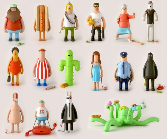 Character Design London : Yum london toy series one