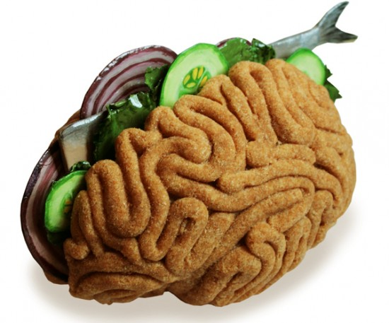 Bread with herring brain food art by Sara Asnaghi