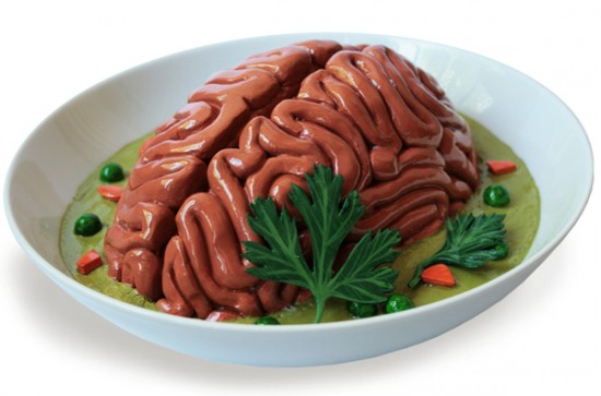 Pea soup with sausage (Snert) brain food art by Sarah Asnaghi
