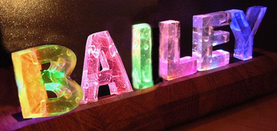 Names in Lights + a lil Photoshoppery