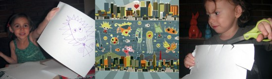 """City to City, Heart to Heart"" by Davenne Jillian Xia Arizona (age 4) and Averey Orion (age 2) with Adrienne Gates"