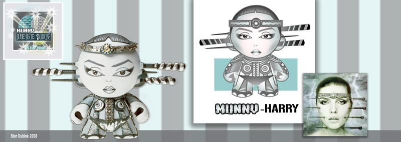 Munny Legends Series 1 by Stor Dubiné: Deborah Harry!