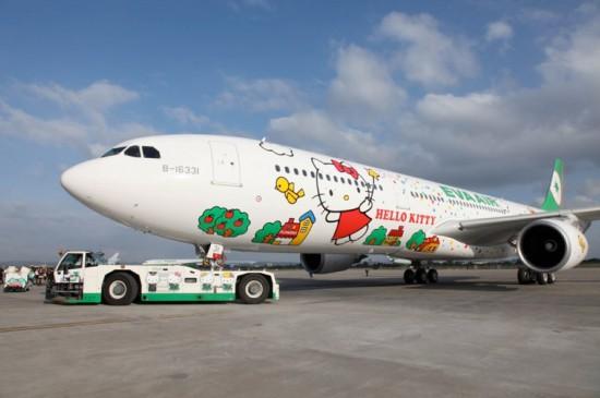 Fly Kawaii! EVA Air Hello Kitty Airplane