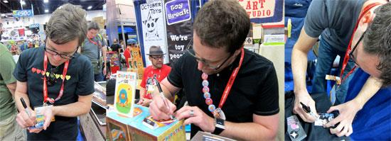 It's a Ham sandwich with Nathan Hamill, Scott Tolleson and Gary Ham all signing their Art Hustle cards.