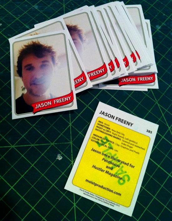 Jason Freeny's card for Art Hustle Series 3