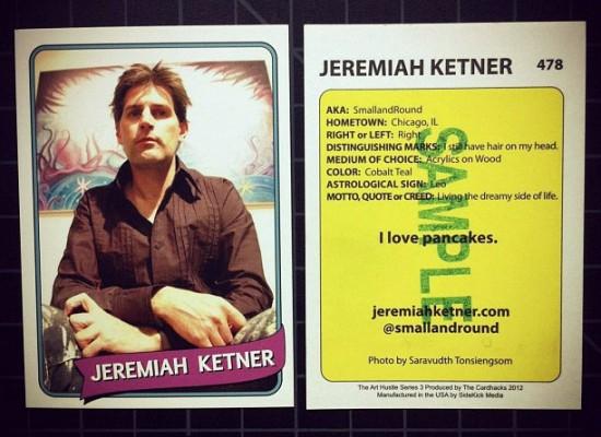 Jeremiah Ketner's card for Art Hustle Series 3