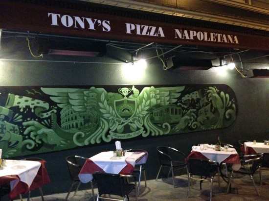 Jeremy Fish Mural at Tony's Pizza
