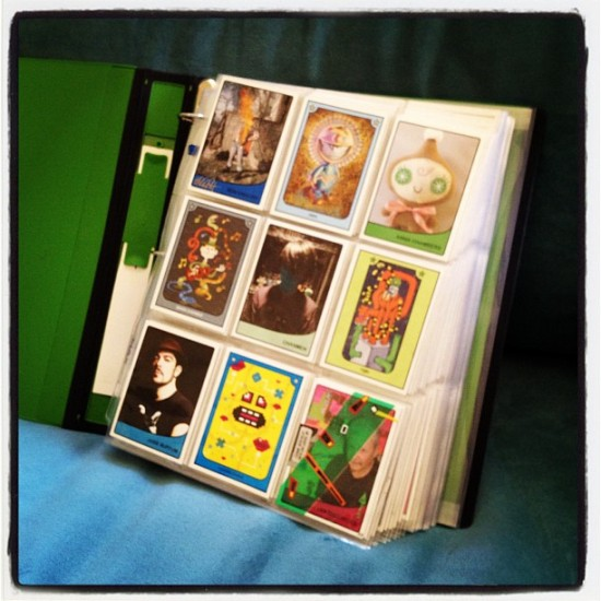 My COMPLETE Art Hustle card collection binder