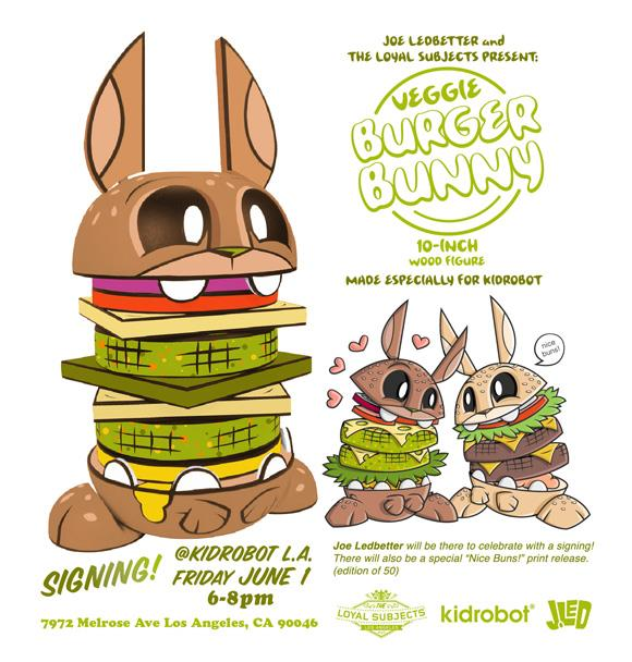 Veggie Burger Bunnies by Joe Ledbetter