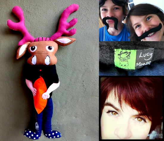 """Lucy Moose"" by Gus (age 10), Spike (age 13) and Lucy Turner (custom soft sculpture)"