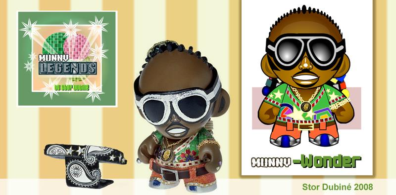 Munny Legends Series 1 by Stor Dubiné: Stevie Wonder!