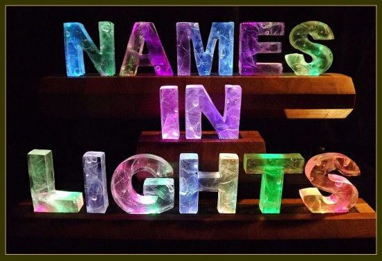 Color-changing lights by Names in Lights