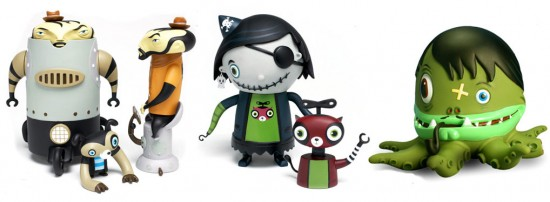 Flying Cat era toys by Nathan Jurevicius