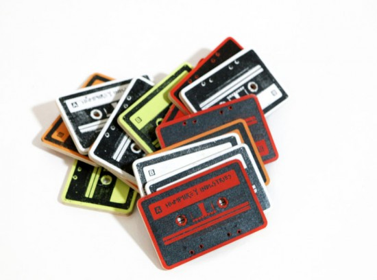 Screenprinted Cassette Tapes by Ryan Humphreys