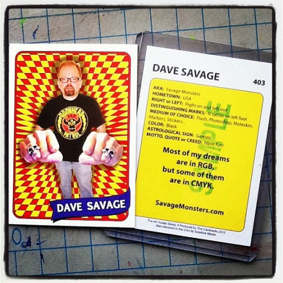 Dave Savage's card for Art Hustle Series 3