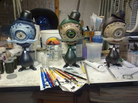 Handpainted Stan Skelves by Travis Louie