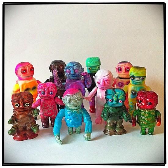 Grody Shogun (@lulubellluke) x Kevin Herdeman (@honkeylips) Melt Monster designer toys
